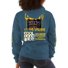 "Load image into Gallery viewer, Unisex Hoodie - Cool Hand Ice ""Glow at the Gardens"""