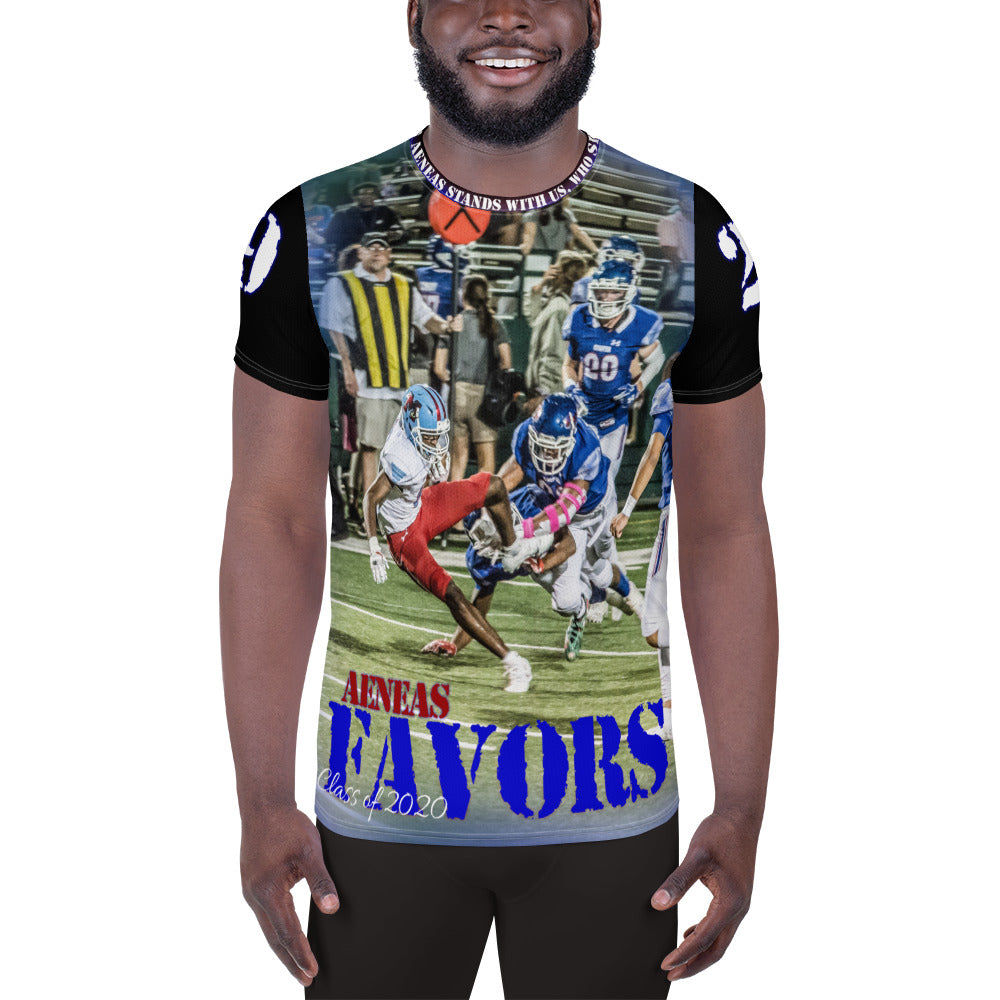 All-Over Athletic T-shirt - AENEAS FAVORS