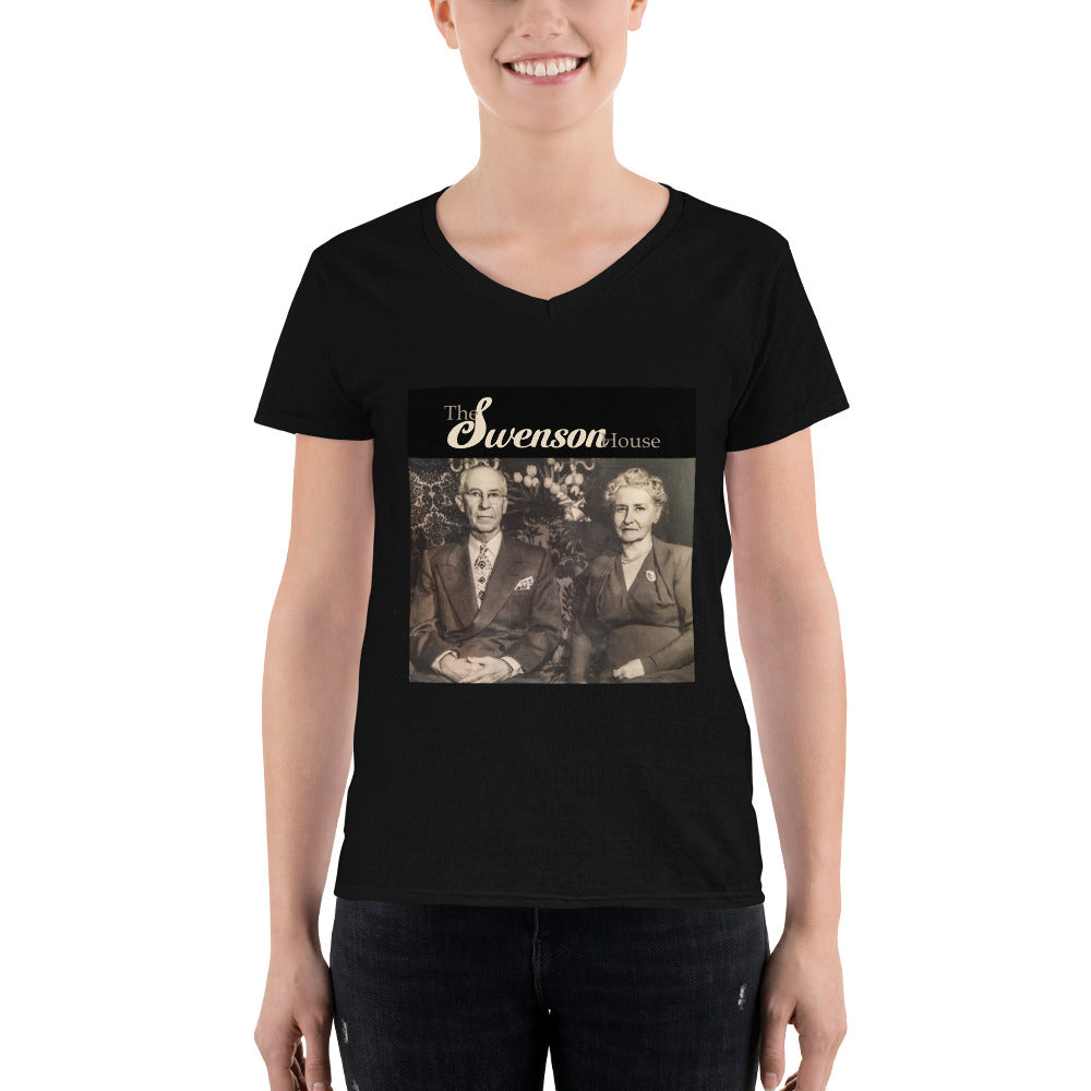 Women's Casual V-Neck Shirt - The Swensons