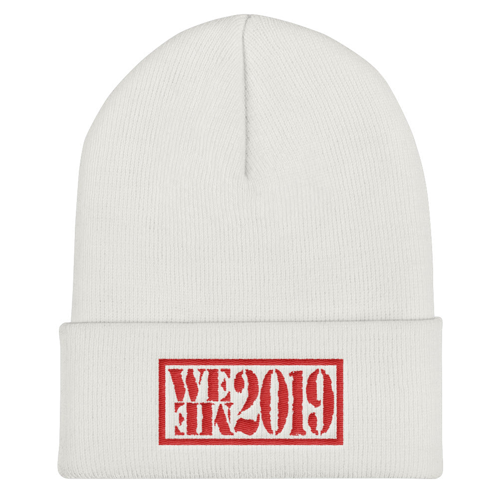 Cuffed Beanie - WE ME 2019 - RED STITCH