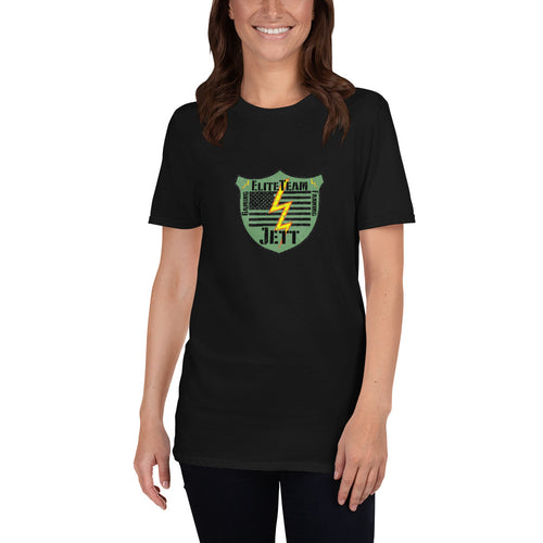 Short-Sleeve Unisex T-Shirt - EliteTeamJett Badge
