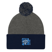 Load image into Gallery viewer, Pom Pom Knit Cap - Cool Hand Ice // blue