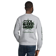 Load image into Gallery viewer, Unisex Sweatshirt - CoolHandHemp.com - Gray & Dark Gray - Frt / Bck / Sleeves
