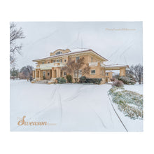 Load image into Gallery viewer, Snowy Swenson House - Throw Blanket