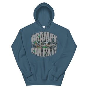Unisex Hoodie - Grampy Can Fix It // grey lettering
