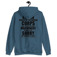 Load image into Gallery viewer, Unisex Hoodie - Grampy Can Fix It - Hearing is Shot // black lettering