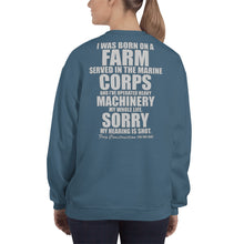 Load image into Gallery viewer, Unisex Sweatshirt - Grampy can fix it - Hearing is shot // grey lettering