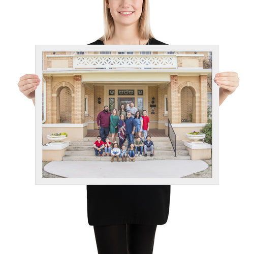 Famiy Photo Swenson House - Framed poster