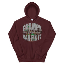 Load image into Gallery viewer, Unisex Hoodie - Grampy Can Fix It // grey lettering