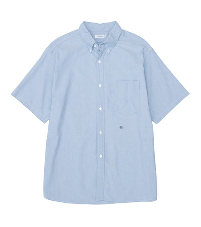 SUGS067_Button Down Wind H/S Shirt_BB(Blue)