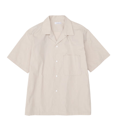 SUGS068_Open Collar Wind H/S Shirt_NA(Natural)