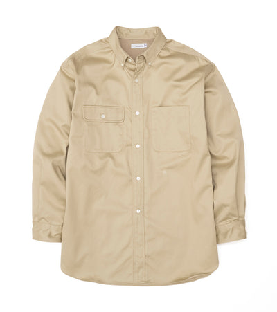 SUGS104_Big Button Down Chino Wind Shirt_KK(Khaki)