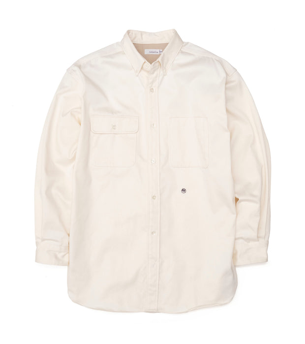 SUGS104_Big Button Down Chino Wind Shirt_NA(Natural)