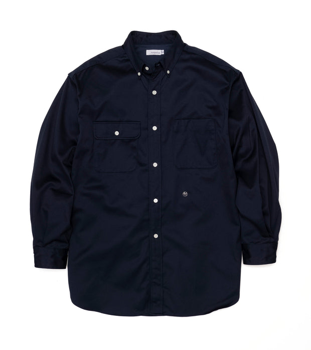 SUGS104_Big Button Down Chino Wind Shirt_N(Navy)