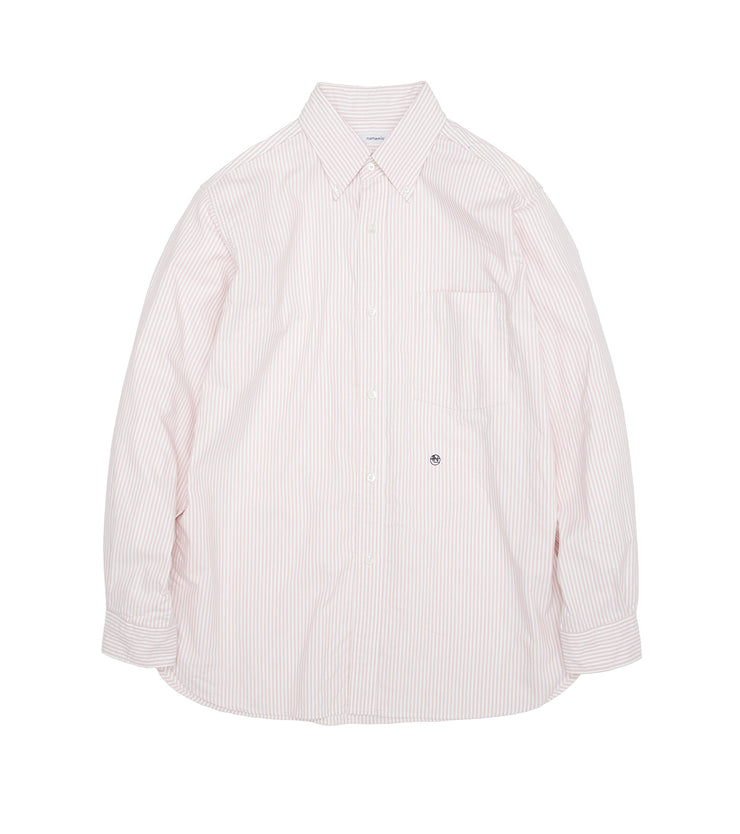 SUGS109_Button Down Stripe Wind Shirt_P(Pink)