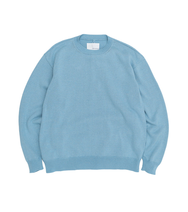 SUJS112_7G Crew Neck Sweater_PB(Pale Blue)