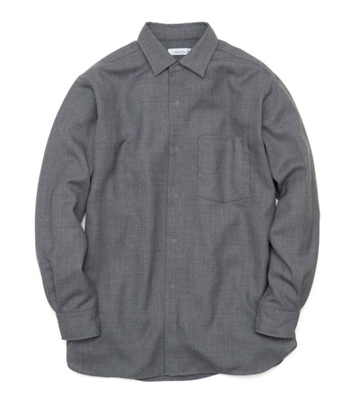 SUGF021_Regular Collar Wind Shirt_HG(Heather Gray)