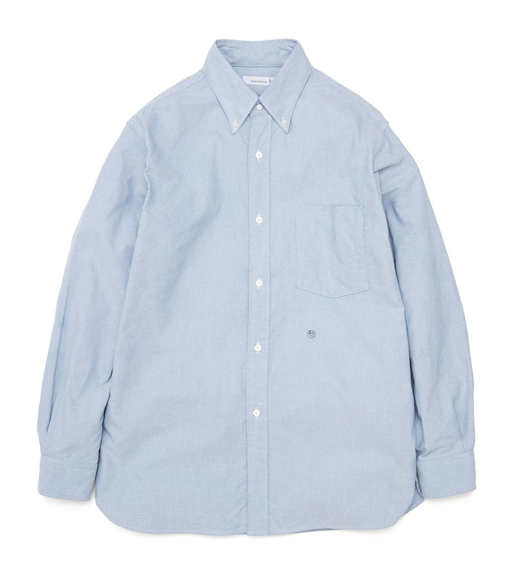 SUGF005_Button Down Wind Shirt_B(Blue)