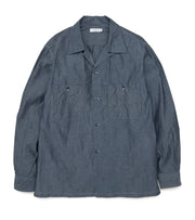 SUGF010_Open Collar Wind Shirt_ID(Indigo)