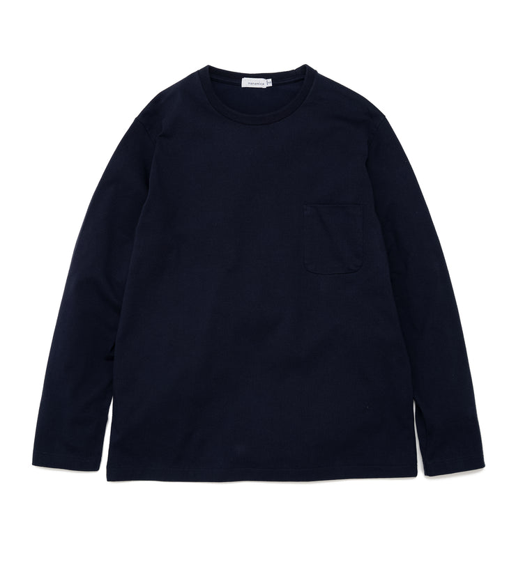 SUHF014_L/S Pocket Tee_N(Navy)