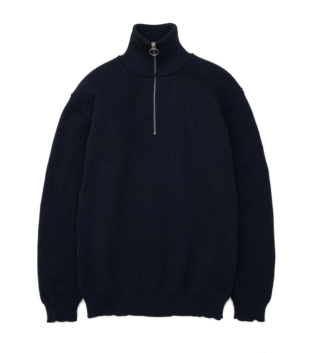 SUJF040_Half Zip Sweater_DN(Dark Navy)