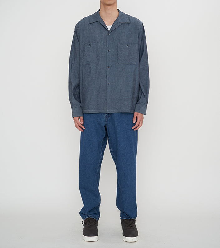 SUGF010_Open Collar Wind Shirt_1