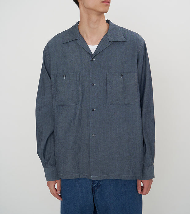 SUGF010_Open Collar Wind Shirt_2