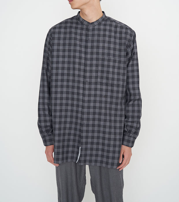SUGF023_Band Collar Wind Shirt_2