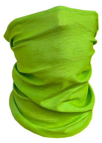 Solid-Color Neon Green Neck Gaiter