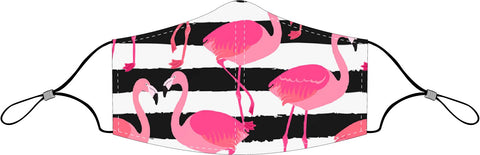 Decorated Flamingos Non-Medical Face Mask