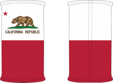 Decorated California Republic Flag Neck Gaiter