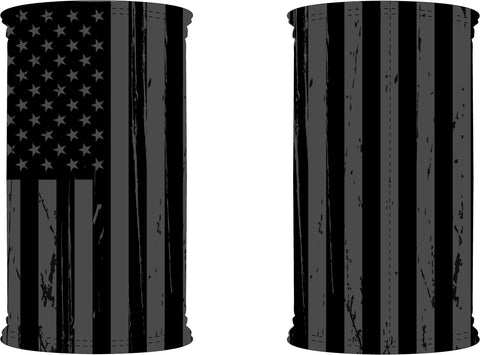 American Flag Black Neck Gaiter