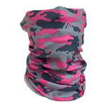 Decorated Breast Cancer Awareness Camo Neck Gaiter