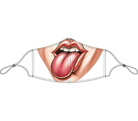 Decorated Tongue Out Non-Medical Face Mask