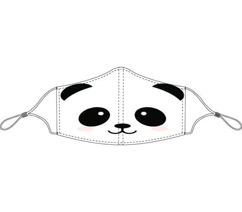 Decorated Smiling Panda Non-Medical Face Mask