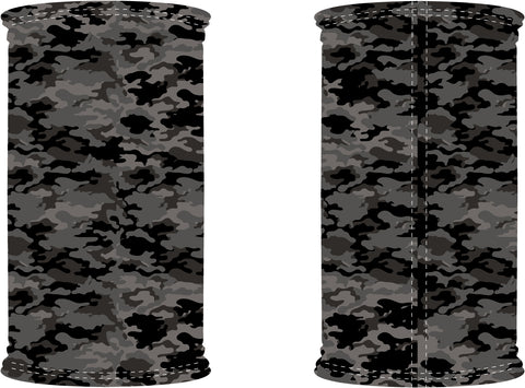 Decorated Dark Camo Neck Gaiter