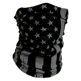 Decorated Gray American Flag Neck Gaiter