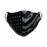 Decorated Gray American Flag Non-Medical Face Mask