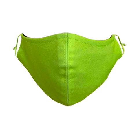 Solid-Color Neon Green Non-Medical Face Mask