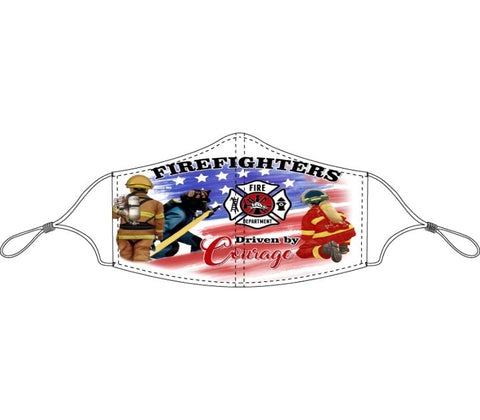 Decorated Firefighters Non-Medical Face Mask