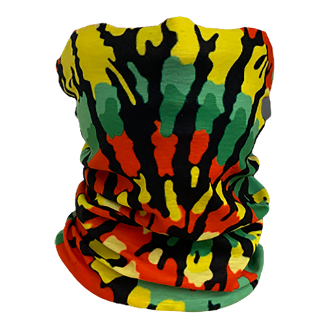 Decorated Rasta Tie Dye Neck Gaiter
