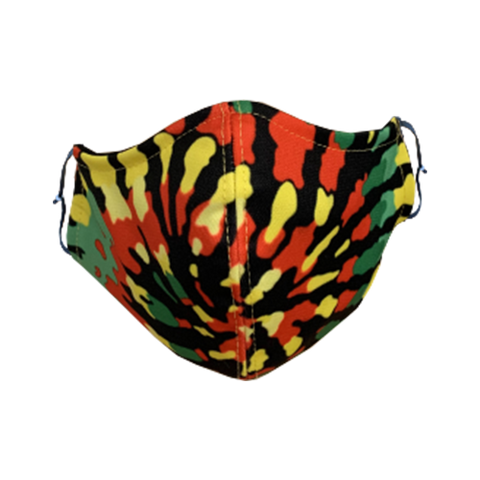 Decorated Rasta Tie Dye Non-Medical Face Mask