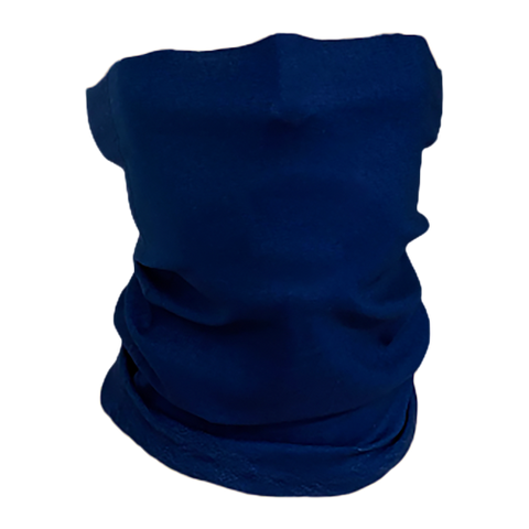 Solid-Color Navy Neck Gaiter