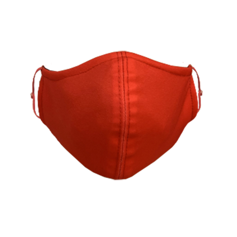 Solid-Color Red Non-Medical Face Mask