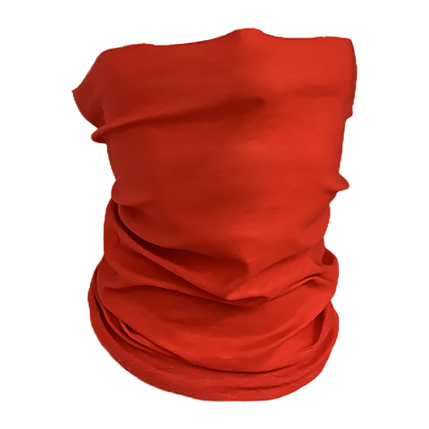 Solid-Color Red Neck Gaiter