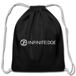 Infinite Edge Drawstring Bag - black