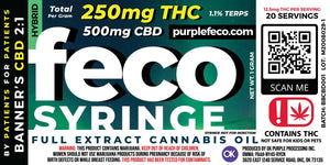 Full Extract Cannabis Oil (FECO) - 1g Syringe - SELECT YOUR CULTIVAR