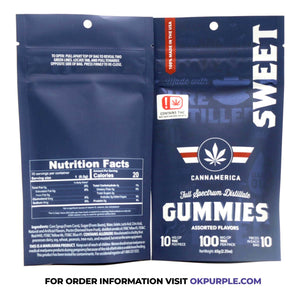 Cannamerica Gummies - Sweet - 10mg THC/Piece (100mg)