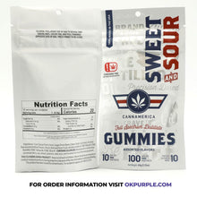 Load image into Gallery viewer, CannAmerica Gummies - Sweet & Sour - 10mg THC/Piece (100mg)