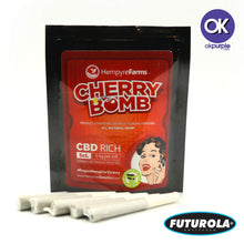 Load image into Gallery viewer, Cherry Bomb Hemp Preroll Cones 5-PACK
